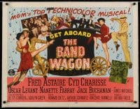 2j077 BAND WAGON linen style B 1/2sh 1953 Fred Astaire, sexy Cyd Charisse, Vincente Minnelli classic!