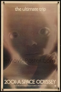 2k137 2001: A SPACE ODYSSEY 1sh 1970 most rare & desirable star child poster, the ultimate trip!