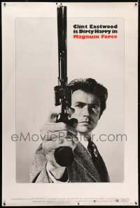 2k013 MAGNUM FORCE 40x60 1973 completely different c/u of Clint Eastwood as Dirty Harry w/his gun!