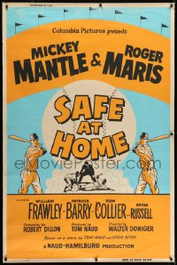 2k014 SAFE AT HOME 40x60 1962 Mickey Mantle, Roger Maris, New York Yankees baseball, ultra rare!
