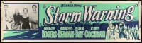 2k010 STORM WARNING paper banner 1951 Ginger Rogers, Ronald Reagan, Day & Cochran, art of KKK!