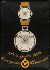 2k042 DIE GUTE UHR 36x50 Swiss advertising poster 1950 good watches from the good watchmaker!