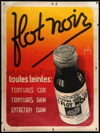 2k044 FLOT NOIR 47x63 French advertising poster 1930s suede & leather dye, great art by Nicolitch!