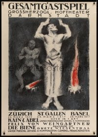 2k023 GESAMTGASTSPIEL 36x50 Swiss opera poster 1917 Otto Baumberger art of the Biblical brothers!