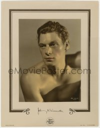 2m199 JOHNNY WEISSMULLER color-glos 11x14.25 still 1941 great Tarzan portrait by George Hurrell!