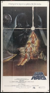 2m033 STAR WARS 3sh 1977 George Lucas classic sci-fi epic, great montage art by Tom Jung!