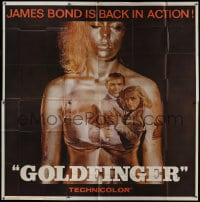 2m137 GOLDFINGER 6sh 1964 Sean Connery as James Bond, Honor Blackman & golden Shirley Eaton, rare!