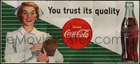 2m030 COCA-COLA billboard poster 1957 great image of nurse telling you to trust its quality!