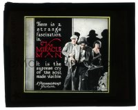 2m159 MIRACLE MAN glass slide 1919 Lon Chaney, written by Frank Packard & George M. Cohan, rare!