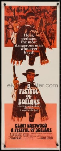 2m034 FISTFUL OF DOLLARS insert 1967 Sergio Leone, Clint Eastwood is perhaps the most dangerous man