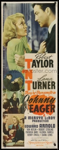 2m036 JOHNNY EAGER insert 1942 sexy Lana Turner & Robert Taylor are dynamite, film noir!