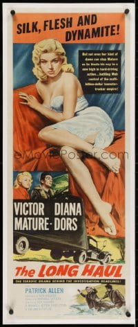 2m037 LONG HAUL insert 1957 super sexy full-length Diana Dors, Victor Mature, truck drivers!