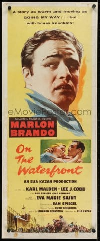 2m038 ON THE WATERFRONT insert 1954 directed by Elia Kazan, classic close up of Marlon Brando!