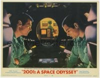 2m270 2001: A SPACE ODYSSEY LC #7 1968 Lockwood & Dullea try to hold discussion away from HAL 9000!