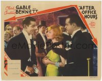 2m273 AFTER OFFICE HOURS LC 1935 Clark Gable tells Constance Bennett he wouldn't work for her!