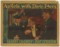 2m274 ANGELS WITH DIRTY FACES LC 1938 tough James Cagney as Rocky Sullivan is apprehended by cops!