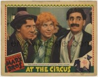 2m275 AT THE CIRCUS LC 1939 Marx Bros Groucho, Chico & Harpo, does anybody look suspicious, rare!