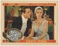2m276 BIG BUSINESS GIRL LC 1931 c/u of Ricardo Cortez and beautiful young Loretta Young, rare!