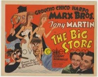 2m239 BIG STORE TC 1941 incredible Al Hirschfeld art of The Marx Bros & mannequins, very rare!