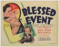 2m240 BLESSED EVENT TC 1932 art of Mary Brian kissing man through keyhole + Lee Tracy, ultra rare!