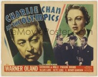 2m242 CHARLIE CHAN AT THE OLYMPICS TC 1937 Asian detective Warner Oland & Katherine DeMille, rare!