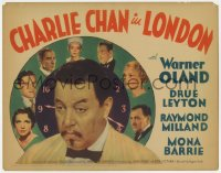 2m243 CHARLIE CHAN IN LONDON TC 1934 Asian Warner Oland & murder suspects in clock, ultra rare!