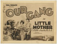 2m251 LITTLE MOTHER TC 1929 art of Farina, Joe Cobb, Beezer, Wheezer & others, Our Gang, very rare!