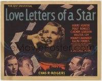 2m252 LOVE LETTERS OF A STAR TC 1936 Polly Rowles commits suicide when blackmailed, ultra rare!