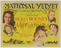 2m255 NATIONAL VELVET TC 1944 Mickey Rooney & Elizabeth Taylor horse racing classic, ultra rare!