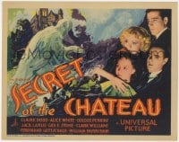 2m263 SECRET OF THE CHATEAU TC 1934 Claire Dodd & top cast by art of ghostly murderer, ultra rare!