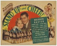 2m265 STAND UP & CHEER TC 1934 7th billed Shirley Temple, Warner Baxter, Madge Evans, ultra rare!