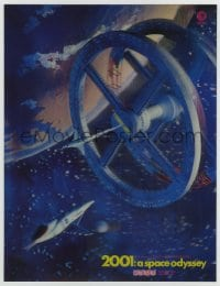 2m189 2001: A SPACE ODYSSEY Cinerama 11x14 lenticular poster 1968 3-D space wheel art, ultra rare!