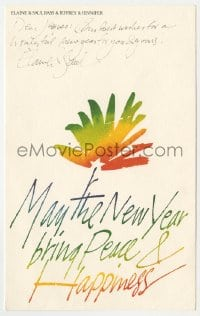2m021 SAUL BASS signed 6x10 greeting card 1983 from Saul & wife to French designer Jacques Richez!