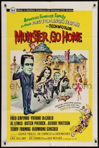 2m218 MUNSTER GO HOME 1sh 1966 Fred Gwynne, Yvonne De Carlo, Al Lewis, feature film from TV show!