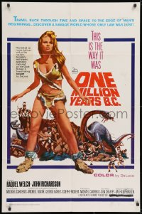 2m222 ONE MILLION YEARS B.C. 1sh 1967 sexiest full-length prehistoric cave woman Raquel Welch!