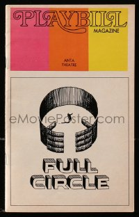 2m014 FULL CIRCLE playbill 1973 great cover artwork by Saul Bass, Leonard Nimoy, Bibi Andersson!