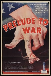2m223 PRELUDE TO WAR 1sh 1943 Frank Capra, great art of U.S. finger on UN's enemies, very rare!
