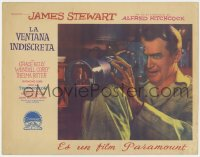 2m169 REAR WINDOW Spanish LC 1954 best different c/u of Jimmy Stewart w/ Burr in lens, ultra rare!