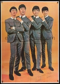 2m178 BEATLES 39x55 special poster 1960s John, Paul, George & Ringo all full-length, very rare!
