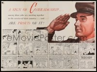 2m197 NEWSMAP vol II no 34 2-sided 35x47 WWII war poster 1943 Al Capp Li'l Abner cartoon strip!
