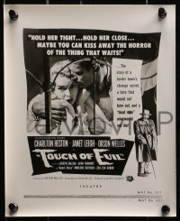 2m161 TOUCH OF EVIL group of 5 8x10 stills 1958 ad images of Welles, Heston & Leigh w/cool taglines!