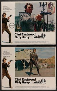 2m232 DIRTY HARRY 8 LCs 1971 great images of Clint Eastwood, Don Siegel crime classic, complete set!