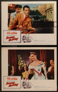 2m235 ROMAN HOLIDAY 8 LCs R1960 different images of Audrey Hepburn & Gregory Peck, complete set!
