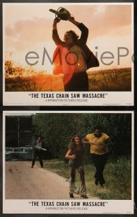 2m236 TEXAS CHAINSAW MASSACRE 8 LCs 1974 includes the iconic image of Leatherface holding chainsaw!