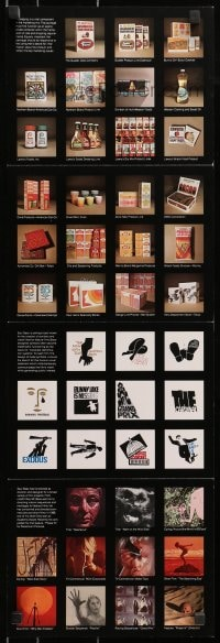 2m019 SAUL BASS promo brochure 1974 with 62 posters, ads & film sequences, including Psycho shower!