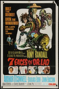 2p001 7 FACES OF DR. LAO 1sh 1964 great art of Tony Randall's personalities by Joseph Smith!