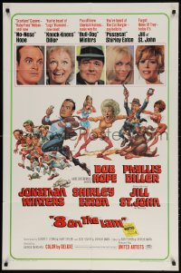 2p003 8 ON THE LAM 1sh 1967 Bob Hope, Phyllis Diller, Jill St. John, wacky Jack Davis art of cast!