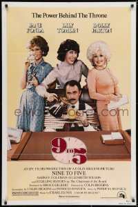 2p004 9 TO 5 1sh 1980 Dolly Parton, Jane Fonda & Lily Tomlin w/tied up Dabney Coleman!
