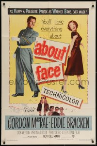 2p013 ABOUT FACE 1sh 1952 military cadets Gordon MacRae & Eddie Bracken!