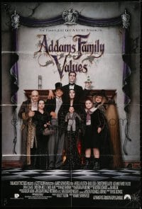 2p016 ADDAMS FAMILY VALUES int'l 1sh 1993 Christina Ricci, the family just got a little stranger!
